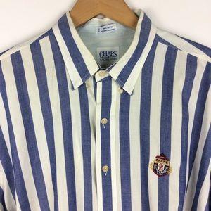 Vintage 90s Chaps Ralph Lauren Striped Button Down